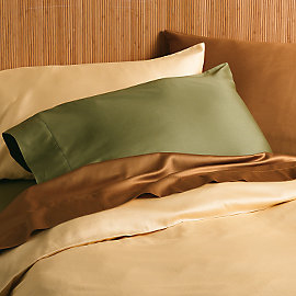 Organic Cotton Sateen Bedding at www.gaiam.com.